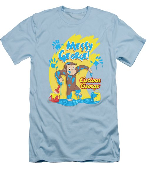 Curious George - Messy George Men's T-Shirt (Slim Fit) by Brand A