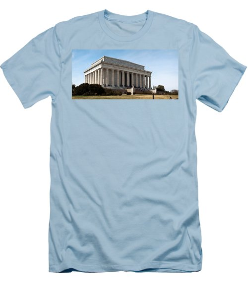 Facade Of The Lincoln Memorial, The Men's T-Shirt (Slim Fit) by Panoramic Images