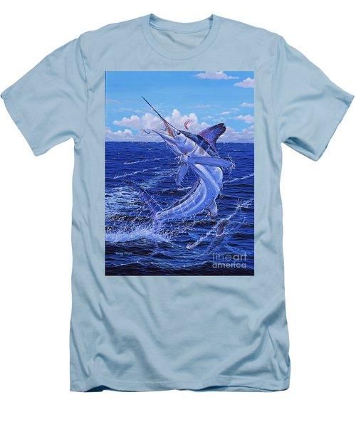 Flat Line Off0077 Men's T-Shirt (Slim Fit) by Carey Chen