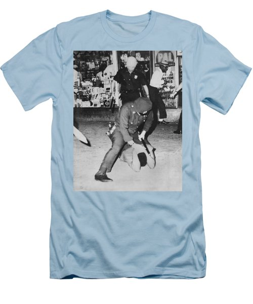 Harlem Race Riots Men's T-Shirt (Slim Fit) by Underwood Archives