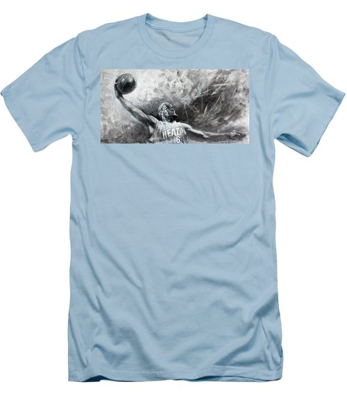 King James Lebron Men's T-Shirt (Slim Fit) by Ylli Haruni
