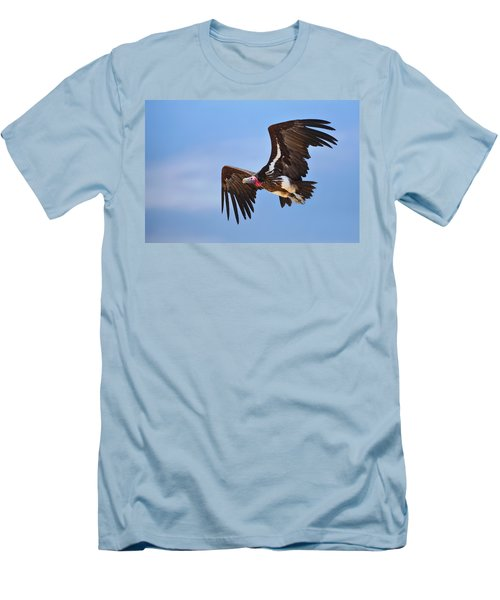Lappetfaced Vulture Men's T-Shirt (Slim Fit) by Johan Swanepoel