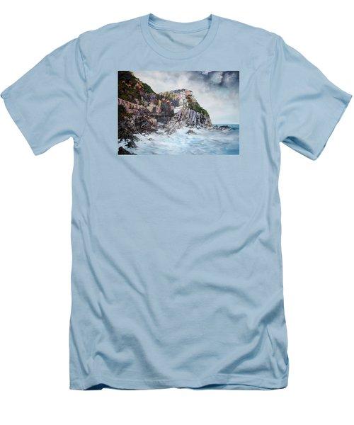 Manarola Italy Men's T-Shirt (Slim Fit) by Jean Walker