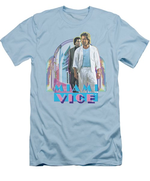 Miami Vice - Miami Heat Men's T-Shirt (Slim Fit) by Brand A