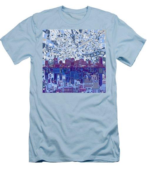 Nashville Skyline Abstract 8 Men's T-Shirt (Slim Fit) by Bekim Art