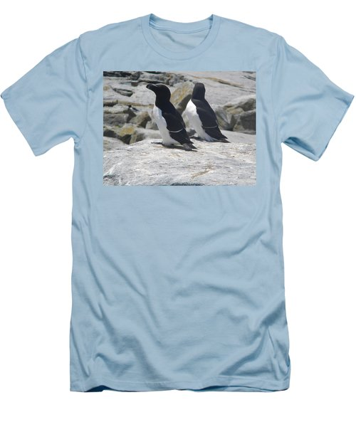 Razorbills 2 Men's T-Shirt (Slim Fit) by James Petersen