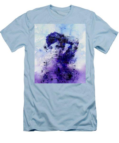 Rihanna 2 Men's T-Shirt (Slim Fit) by Bekim Art