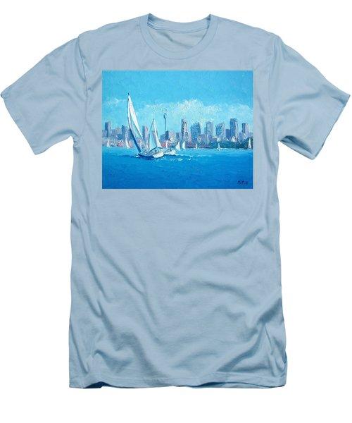 The Regatta Sydney Habour By Jan Matson Men's T-Shirt (Slim Fit) by Jan Matson
