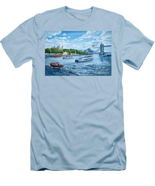 The Tower Of London Men's T-Shirt (Slim Fit) by Steve Crisp