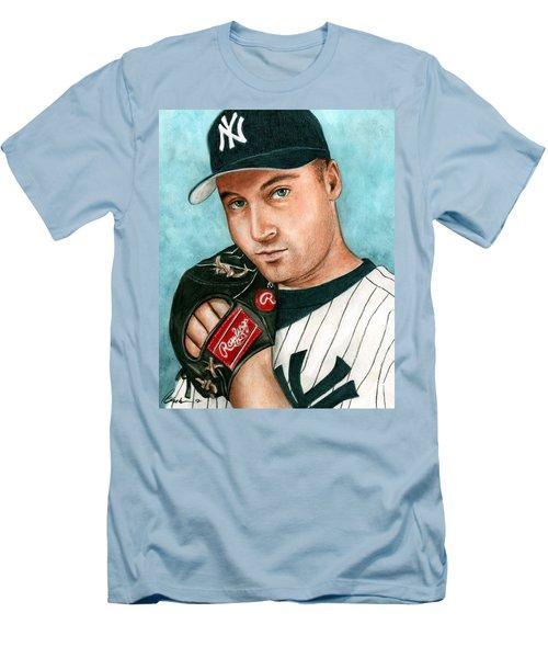 Derek Jeter  Men's T-Shirt (Slim Fit) by Bruce Lennon
