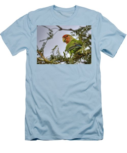 Over My Shoulder  Men's T-Shirt (Slim Fit) by Saija  Lehtonen