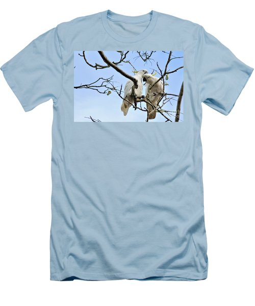 Sulphur Crested Cockatoos Men's T-Shirt (Slim Fit) by Kaye Menner
