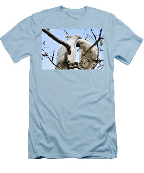 White Cockatoos Men's T-Shirt (Slim Fit) by Kaye Menner