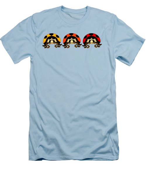 3 Bugs In A Row Men's T-Shirt (Slim Fit) by Sarah Greenwell