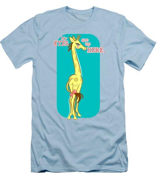 Sassy Giraffe - Fancy Men's T-Shirt (Slim Fit) by J L Meadows
