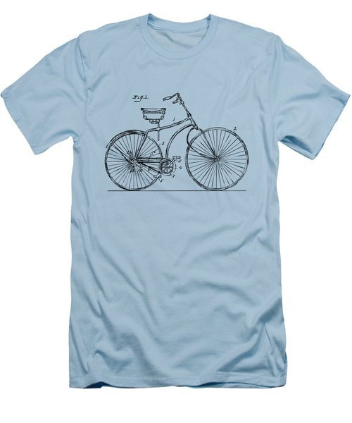 1890 Bicycle Patent Minimal - Vintage Men's T-Shirt (Slim Fit) by Nikki Marie Smith