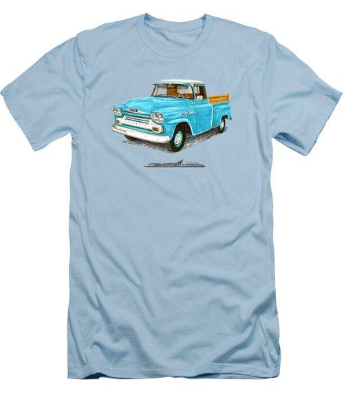 1958 Chevrolet Apache Pick Up Men's T-Shirt (Slim Fit) by Jack Pumphrey