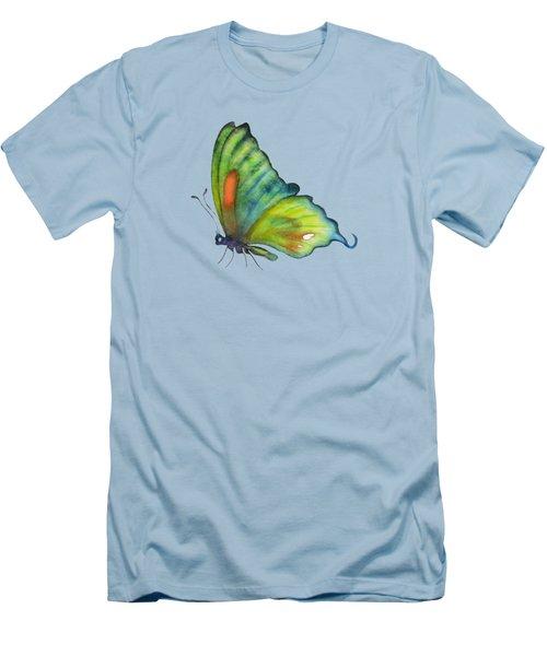 3 Perched Orange Spot Butterfly Men's T-Shirt (Slim Fit) by Amy Kirkpatrick