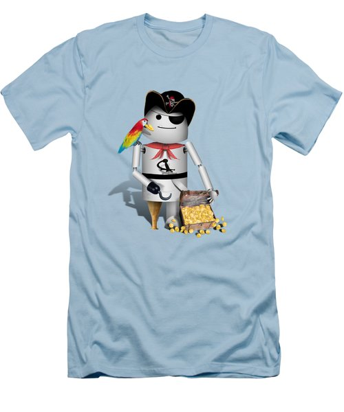 Robo-x9 The Pirate Men's T-Shirt (Slim Fit) by Gravityx9  Designs