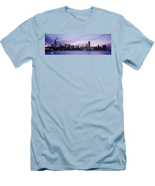 Buildings At The Waterfront, Chicago Men's T-Shirt (Slim Fit) by Panoramic Images