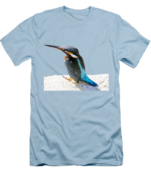 A Beautiful Kingfisher Bird Vector Men's T-Shirt (Slim Fit) by Tracey Harrington-Simpson