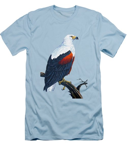 African Fish Eagle Men's T-Shirt (Slim Fit) by Anthony Mwangi