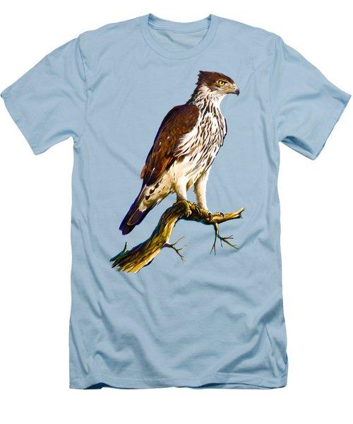 African Hawk Eagle Men's T-Shirt (Slim Fit) by Anthony Mwangi