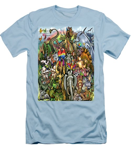 All Creatures Great Small Men's T-Shirt (Slim Fit) by Kevin Middleton