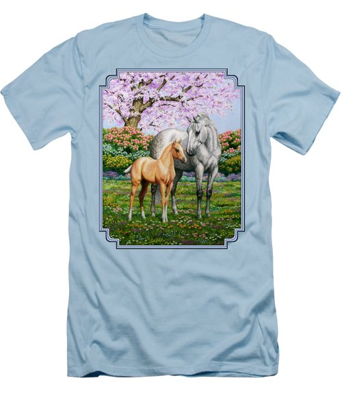Spring's Gift - Mare And Foal Men's T-Shirt (Slim Fit) by Crista Forest