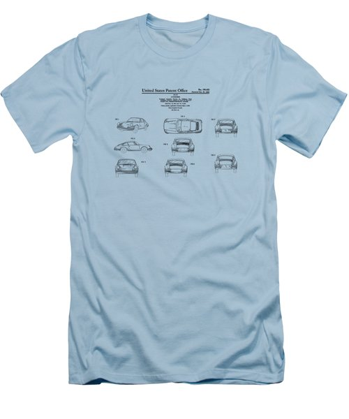 Porsche 911 Patent Men's T-Shirt (Slim Fit) by Mark Rogan