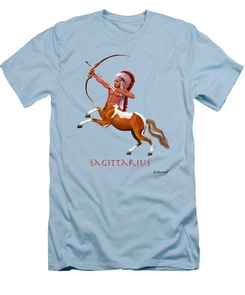 Native American Sagittarius Men's T-Shirt (Slim Fit) by Glenn Holbrook