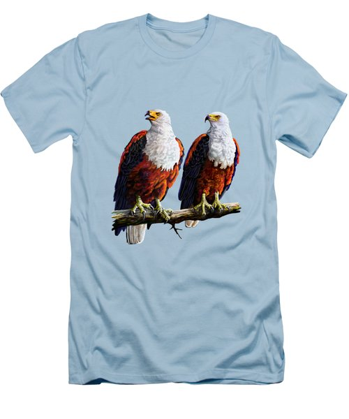 Friends Hanging Out Men's T-Shirt (Slim Fit) by Anthony Mwangi