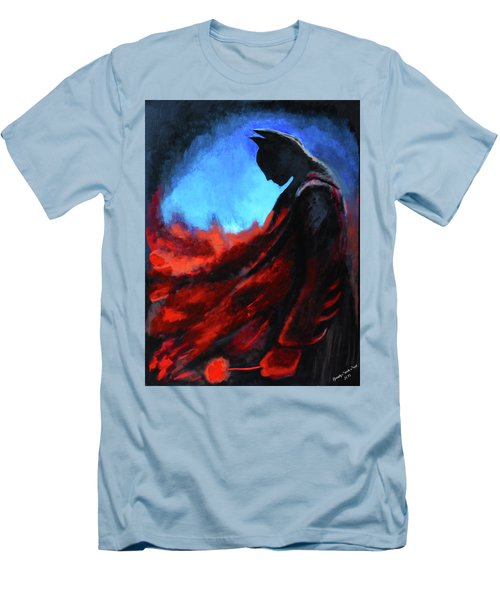 Batman's Mercy Men's T-Shirt (Slim Fit) by Brandy Nicole Neal