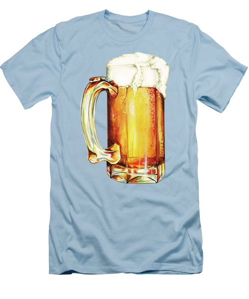 Beer Pattern Men's T-Shirt (Slim Fit) by Kelly Gilleran