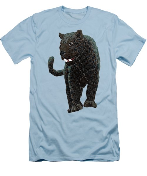Black Panther Men's T-Shirt (Slim Fit) by Dusty Conley