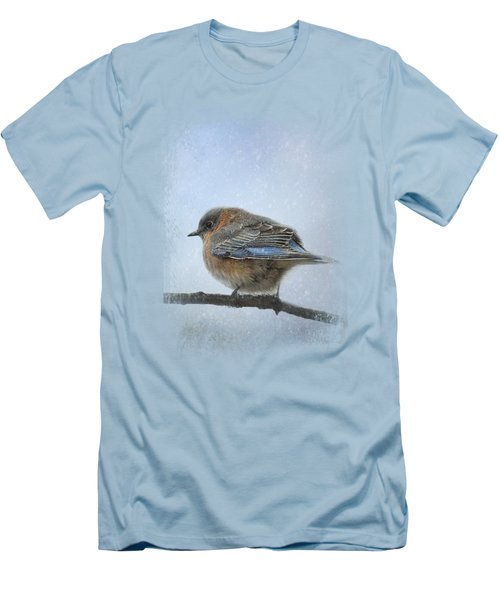 Bluebird In The Snow Men's T-Shirt (Slim Fit) by Jai Johnson