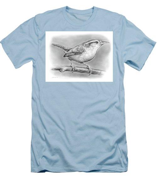 Carolina Wren Men's T-Shirt (Slim Fit) by Greg Joens
