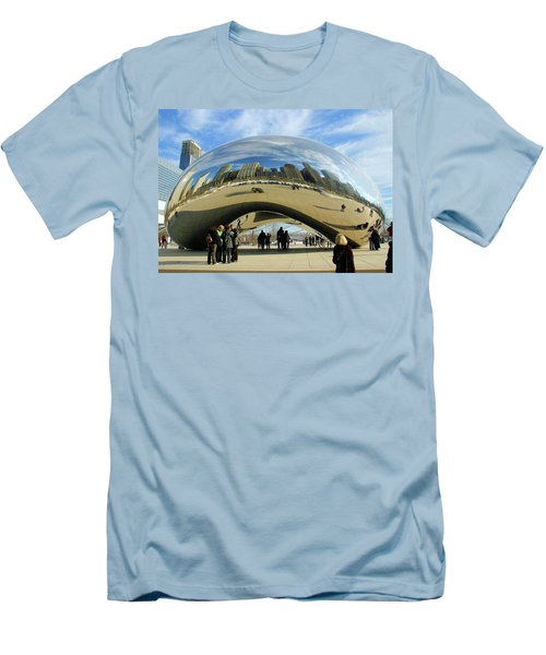 Chicago Reflected Men's T-Shirt (Slim Fit) by Kristin Elmquist