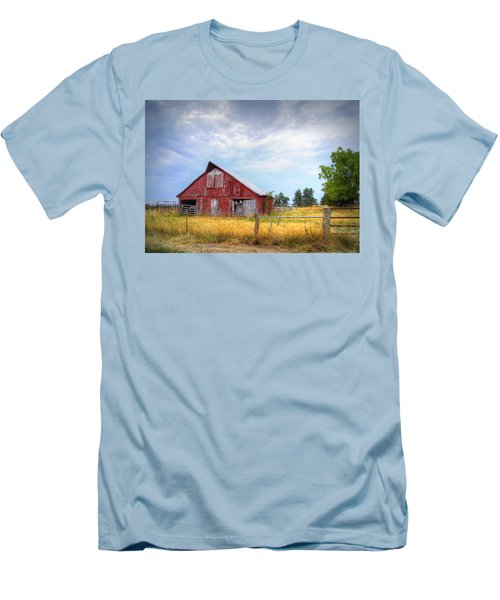 Christian School Road Barn Men's T-Shirt (Slim Fit) by Cricket Hackmann