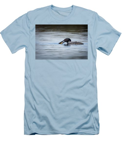 Common Loon Men's T-Shirt (Slim Fit) by Bill Wakeley