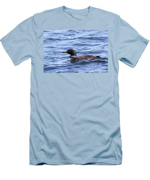 Common Loon Men's T-Shirt (Slim Fit) by Teresa Zieba