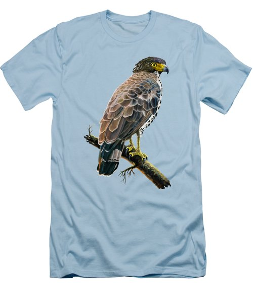 Congo Serpent Eagle Men's T-Shirt (Slim Fit) by Anthony Mwangi