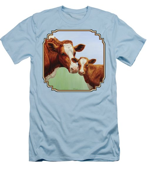 Cream And Sugar Men's T-Shirt (Slim Fit) by Crista Forest