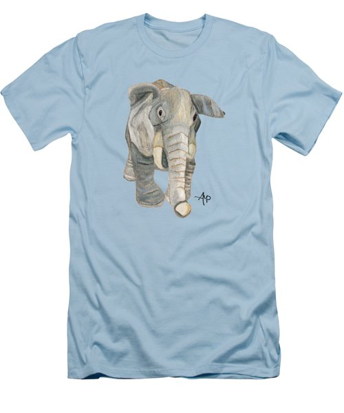 Cuddly Elephant Men's T-Shirt (Slim Fit) by Angeles M Pomata
