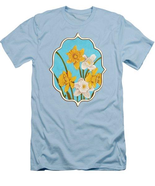 Daffodils Men's T-Shirt (Slim Fit) by Anastasiya Malakhova