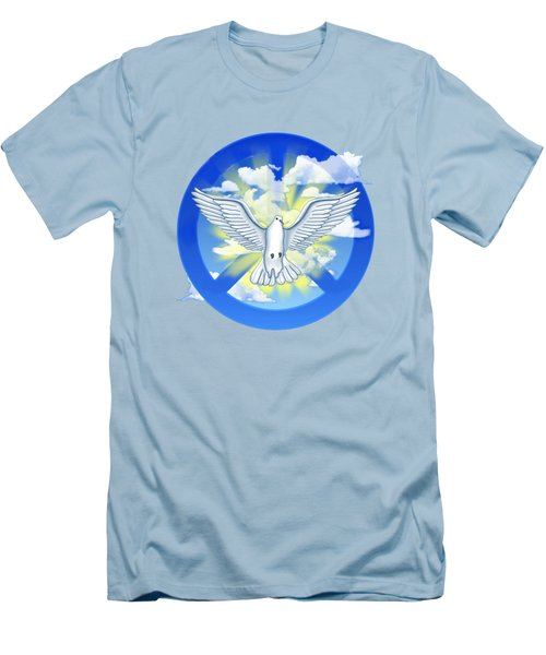 Dove Of Peace Men's T-Shirt (Slim Fit) by Chris MacDonald