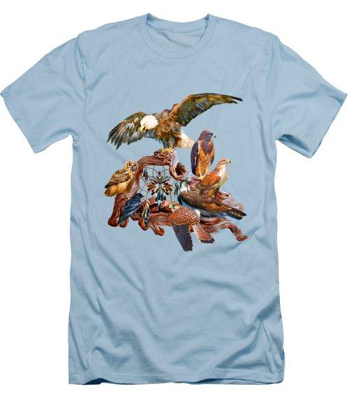 Dream Catcher - Spirit Birds Men's T-Shirt (Slim Fit) by Carol Cavalaris