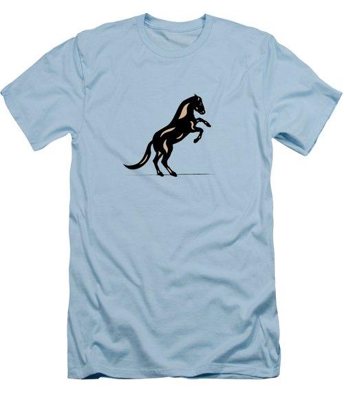Emma II - Pop Art Horse - Black, Hazelnut, Island Paradise Blue Men's T-Shirt (Slim Fit) by Manuel Sueess