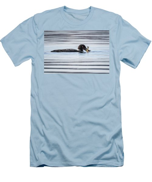 Fish For Lunch Men's T-Shirt (Slim Fit) by Bill Wakeley
