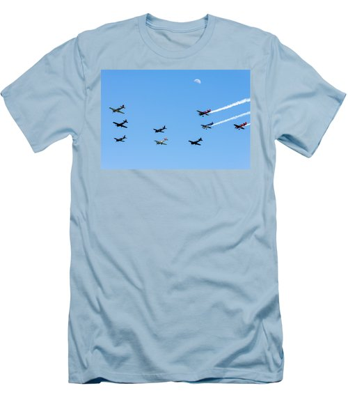 Fly Me To The Moon Men's T-Shirt (Slim Fit) by Marco Oliveira